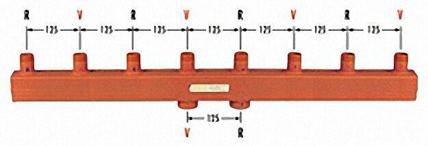 Kesselverteiler Typ 60-12,5 zwei Heizgruppen