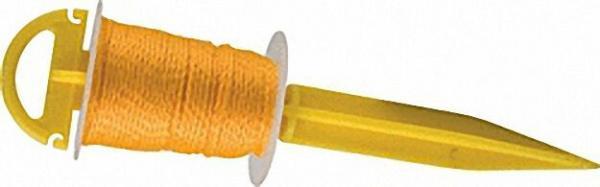 Steckstab mit Richtschnur 30m, 2,0mm gelb