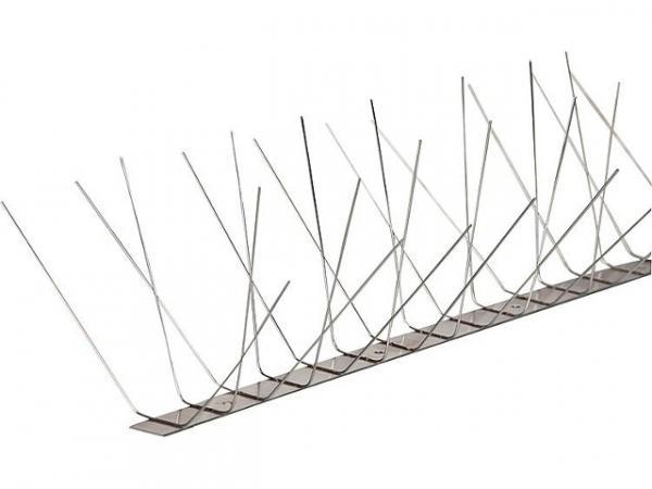 Taubenschutz aus Edelstahl 4-reihig 1 Meter