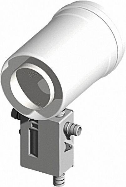 Kunststoff-Abgassystem Kondensatablauf senkrecht und waagrecht mit Siphon-DN 60/100