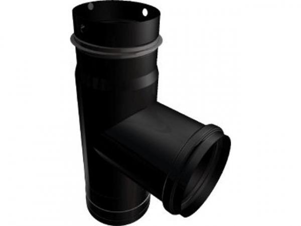 Buderus 63043116 Abgas- T-Stück schwarz/Email