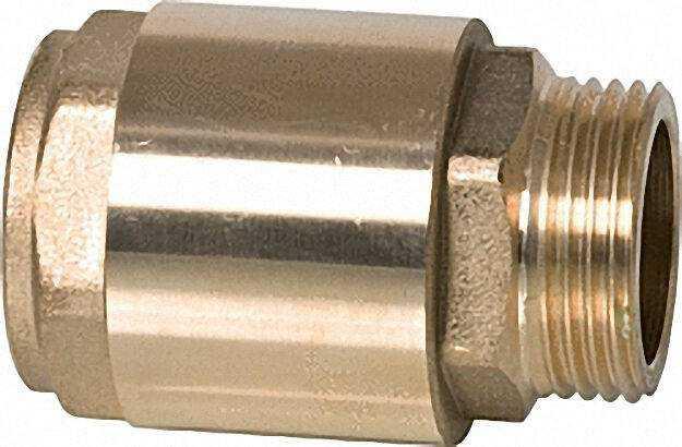 Rückschlagventil aus Messing mit IG 1 1/4'' X AG 1 1/4'' Typ 6 Durchfl