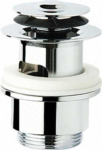 Klicker Schaftventil mit Überlauf DN 32 (1 1/4''), mit kl. Exzenterstopfen, 63mm, Höhe 90mm