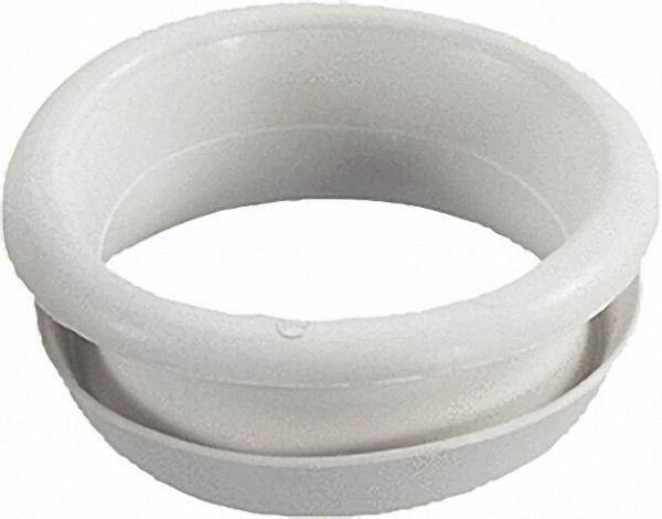 Gummi-WC-Abgangs-Verbinder WC mit innenliegendem Abgang auf Guss-Rohr NW100, hell