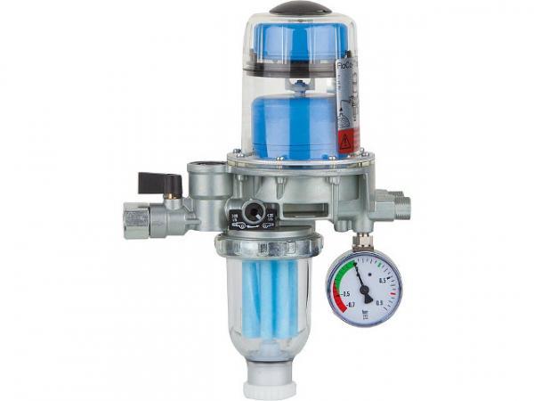 AFRISO 70110 Flo-Co-Top 2KM Si mit integriertem Filter, RV und Unterdruck-Manometer