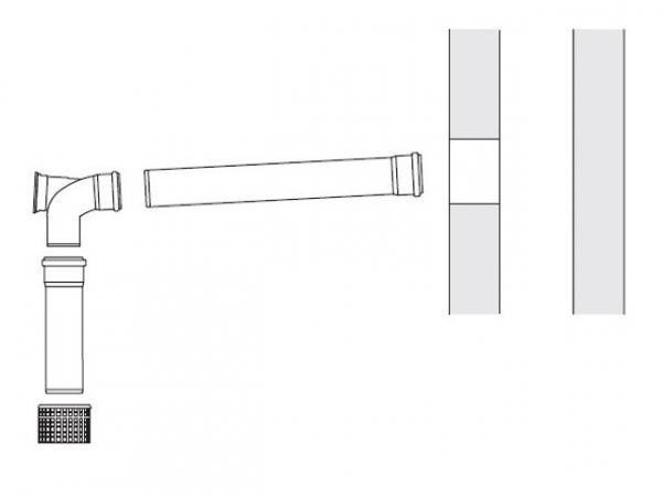 Buderus Abgassystem Grundbausatz GN, Ø 80 mm, rla, Wandgeräte/SB105/GB102S, 7738112563
