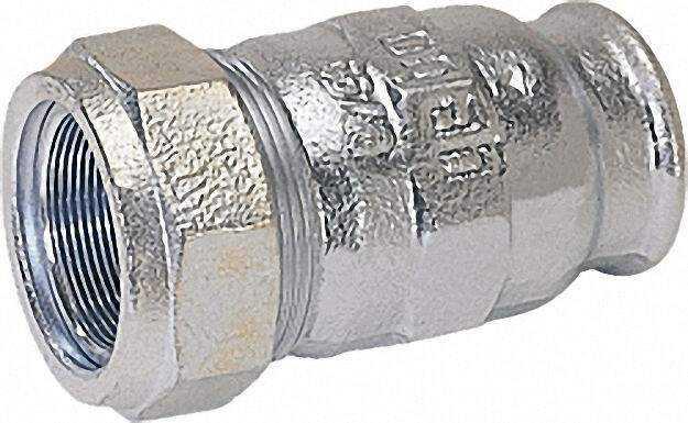 Temperguss-Klemmverbinder mit IG Gas PN 4, Wasser PN 16, Typ I 1