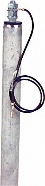 Magnesiumanode M 8 x 30/500mm für isolierte Flanschmontage Durchmesser = 26mm, ZWEIteiliger Artikel!