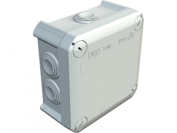 Abzweigkasten Thermoplast 7xM25, IP 66 Typ T 60, lichtgrau / 1 Stück