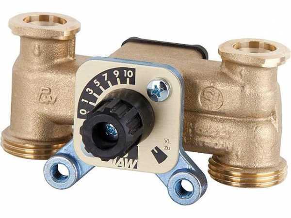 3-Wege-Mischer DN20 F3/4'xG1'AG A=90mm kurze Mischerwelle