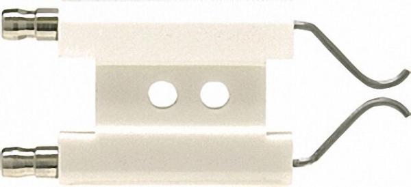 Doppelzündelektrode für Thyssen Gasbrenner TG1 Anschluss 6,3mm