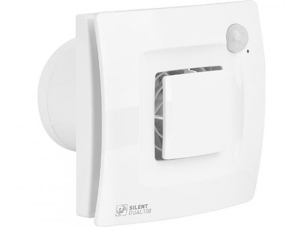 Kleinraumventilator Silent Dual NW 100, V=90 m3/h Bewegung+Feuchtesteuerung
