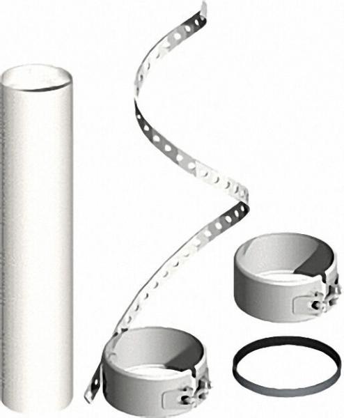 EVENES Kunststoff-Abgassystem Montageset Rohr flexibel für Mündungsset Uni - DN 110