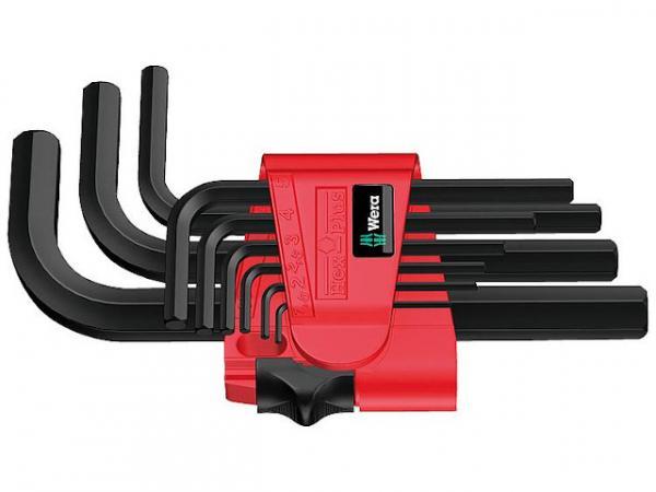 Winkelschlüsselsatz WERA 9-teilig, 6-kant, kurz, BlackLaser 1,5 - 10mm