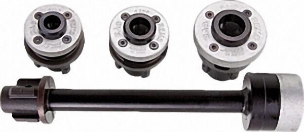 Schneidköpfür S Set, R 3/8''-1/2''-3/4'' mit Verlängerung 300mm, im stabilen Stahlblechkasten