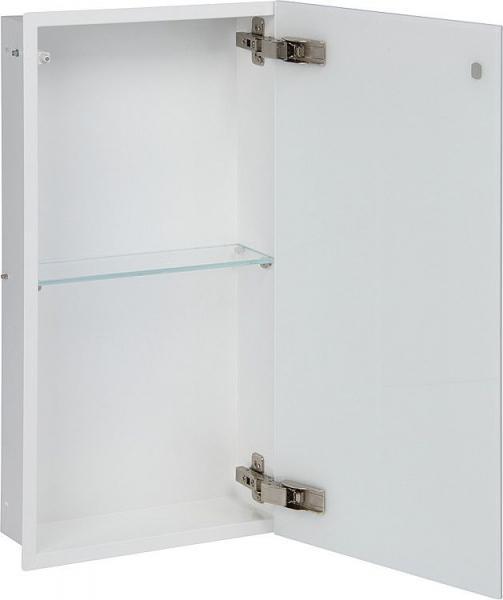 Edelstahl-Wandeinbaucontainer mit Glastür, 300 x 600 mm