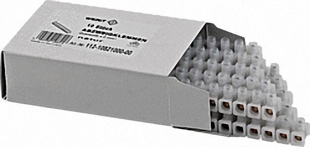 Dosen-klemmleiste PVC 12 tlg. 4mm² 1 VPE 10 Stangen