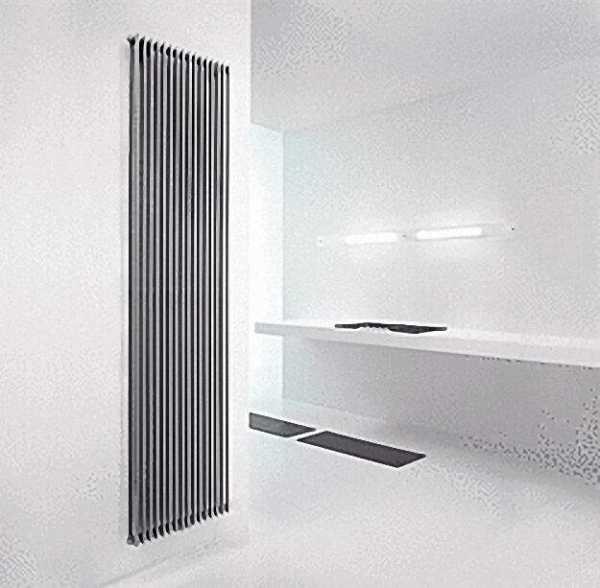Wohnraum-Radiator Florian Plus Farbe alluminium grau H x L = 1998 x 420mm