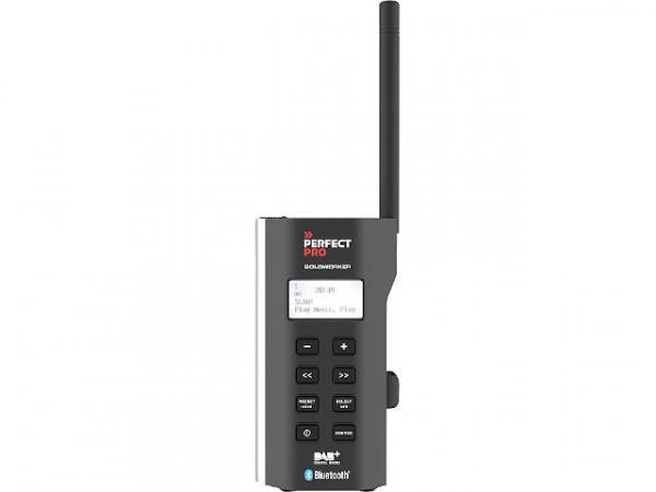 Baustellenradio Soloworker mit Akku 1x1,5 W, UKW, DAB+, Bluetooth 0,25kg, 67x122x41mm