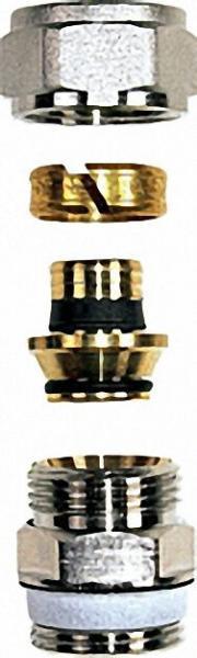 Klemmverschraubung 32mm x 3/4'' mit Doppelnippel (, ) für Kunststoffrohre 20x2mm