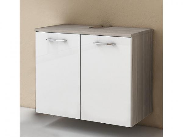 Waschtischunterschrank ESTRA Lärche u. weiß Hgl. 2 Türen 700x572x370mm