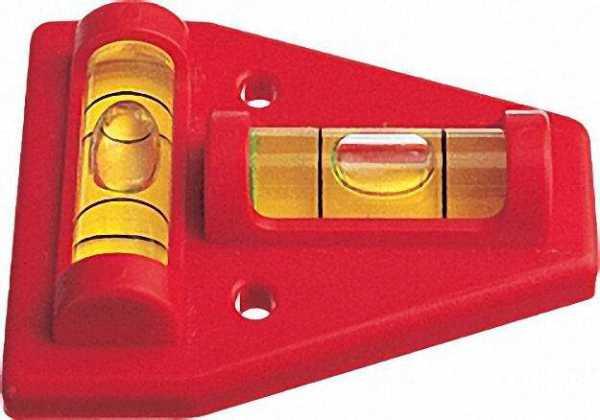 Kreuzwasserwaage K5 aus Kunststoff 45mm x 60mm, 2 Acrylglaslibellen unzerbrechlich