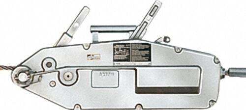 GEWA-Seilzug mit Hebelrohr, Seil und Handhaspel, Typ Y 32, Zugkraft 3200 kg, Seillänge 20 m