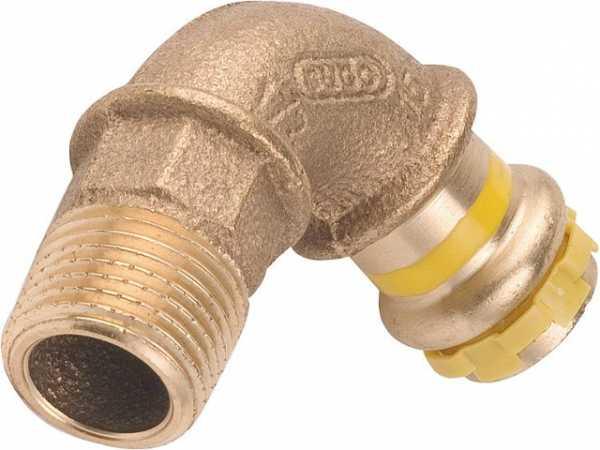 Rotguß Pressfitting Gas Einschraubbogen 90Gr mit AG 28x1 PG 4001G Gas