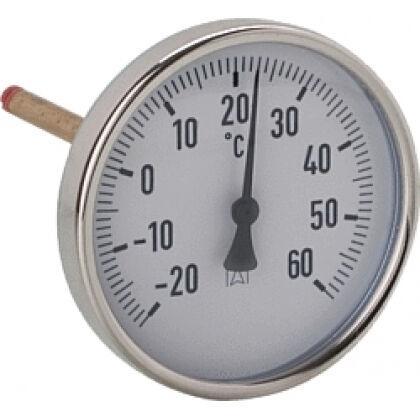 AFRISO Luftkanalthermometer Stahlblech verzinkt 100DN Schaftlänge 150mm, -30/+50°C