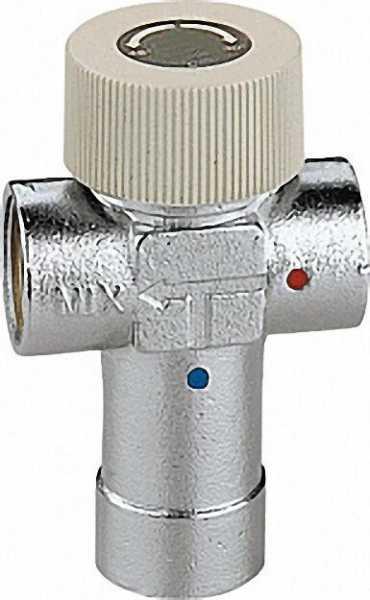 CALEFFI Thermomischer 520 einstellbar, verchromt, 3/4'' Einstellbereich: 40°C bis 60°C