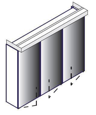 LANZET 7283512 Spiegelschrank 80x62,5x13, 6 Pinie 3 Türen L3+Box