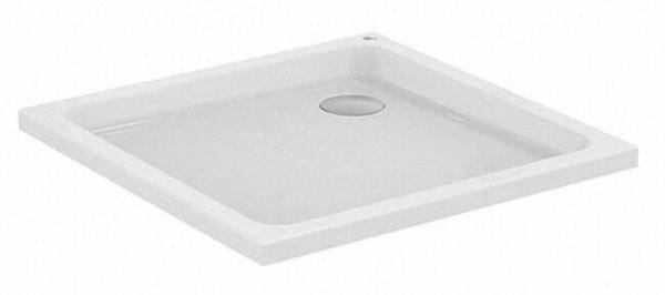 Quadrat Brausewanne WP A 001 BAF flach aus Acryl,weiß, LxBxH: 900x900x80mm