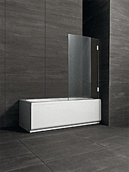 Badewannenaufsatz Flinter, Sicherheitsglas mit Anti-Kalk- Beschichtung, 700x1400mm