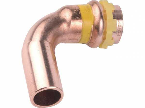 Kupfer Pressfitting Gas Bogen 90Gr I/A D: 22mm PG 5001 Gas