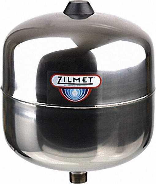 ZILMET Ausdehnungsgefäß Zilflex-Hydro Plus E - Edelstahl 8 Liter