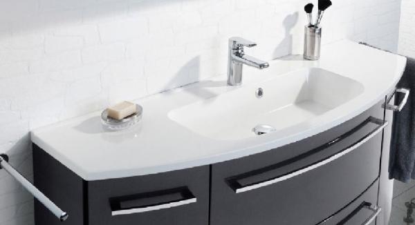 LANZET 7220012 S2 Guss-Waschtisch, 120x2x47 cm, weiß