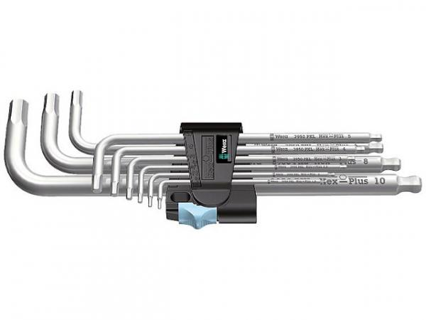 Winkelschlüsselsatz WERA 9-teilig, Edelstahl, 6-kant 1,5 - 10mm
