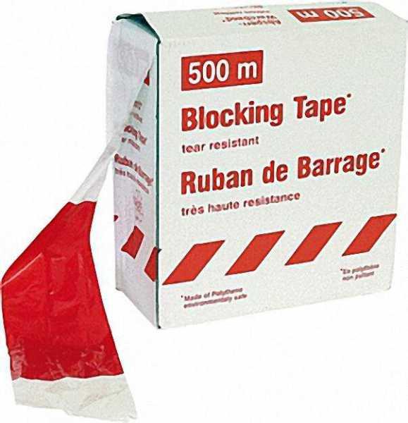 Folienwarnband rot/weiß gestreift, 80mm breit 1 Rolle a 500m