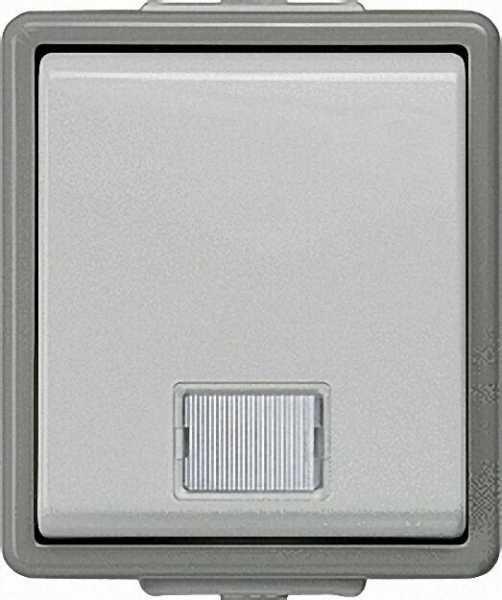 Aufputz-Kontrollschalter für Ausschaltung mit Fenster 75mm x 66mm x 54mm/ IP44/1 Stück
