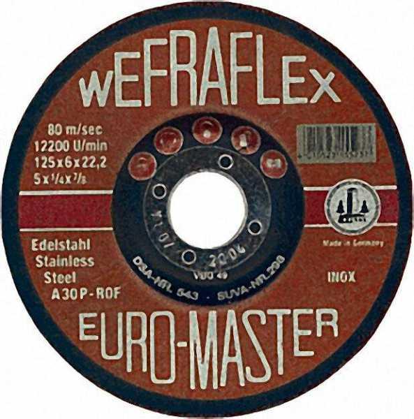 Schruppscheibe INOX für Edelstahl 125 x 6 x 22mm