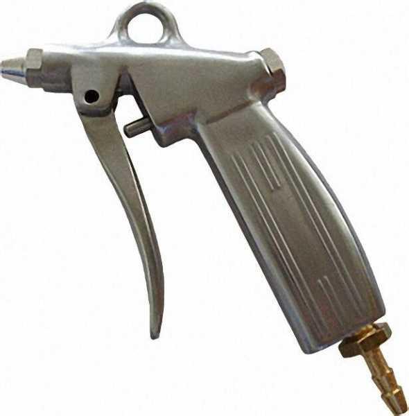 Ausblasepistole aus Alu, mit Kurzdüse 6mm