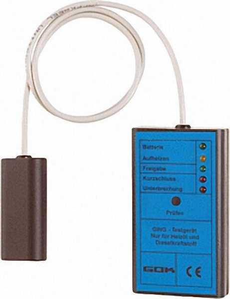 Grenzwertgebertestgerät TG 1 mit Leuchtdioden zur Funktionskontrolle inklusive 2 9V-Blockbatterien