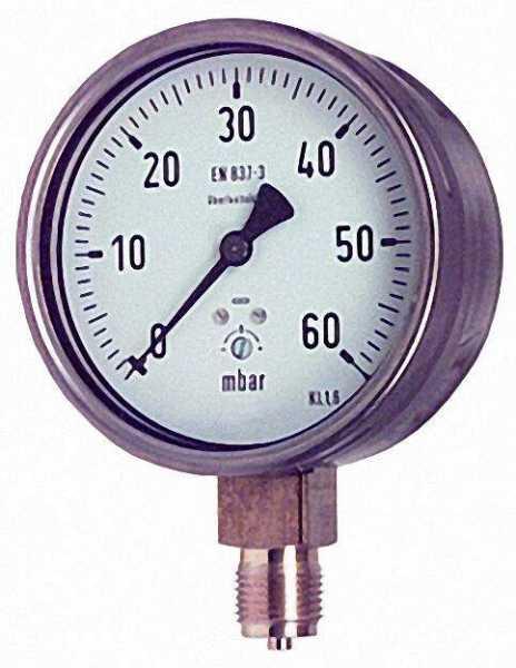 Kapselfedermanometer KP 100.3 0-60 mbar