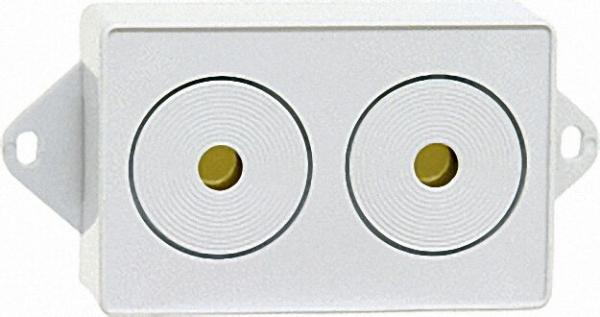 Externe Piezo-Sirene AS 05, 12 V DC 100 mA, Lautstärke ca. 110 dB(A)/m Innenmontage, zu Gasmelder GA