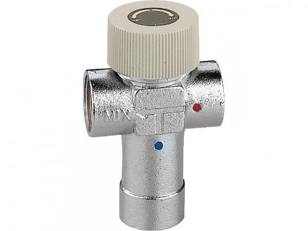 CALEFFI Thermomischer 520 einstellbar, verchromt, 1/2'' Einstellbereich: 30°C bis 48°C