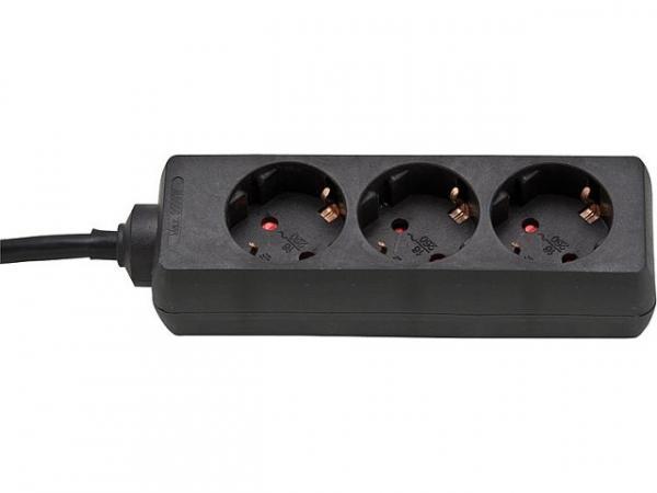 3-fach Steckdose Zuleitung: 5,0 mtr. Farbe: schwarz