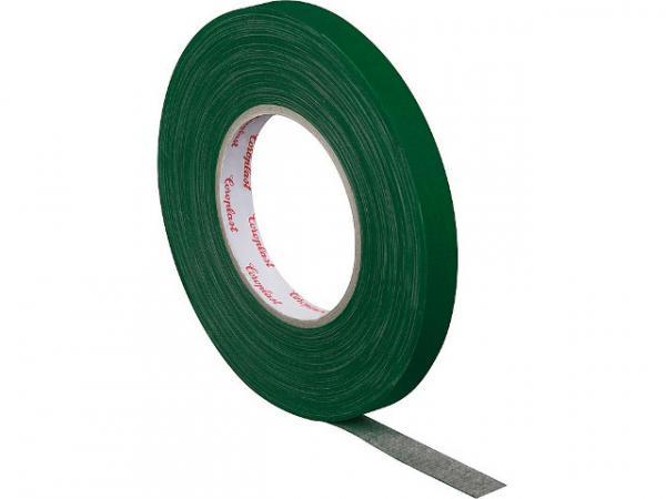 Gewebeklebeband, kunststoffgeschützt grün, Breite15 mm Länge 50 m