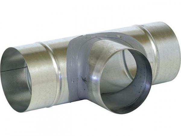 Helios 60609 T-Stück L-TS 100 Stahlblech verzinkt D: 100 mm