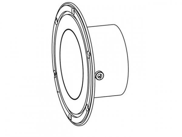 WOLF 2651094 Eintrittsanschluss-Rauchrohrstutzen130 inkl. O-Ring