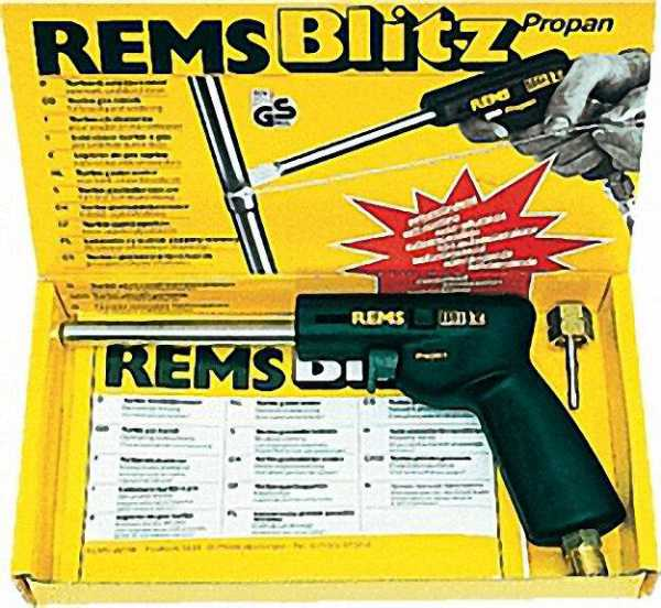 REMS Blitz Turbo Gaslötbrenner für Cu-Rohr bis 35mm